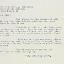 Letter: 1957 January 8