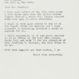 Letter : 1961 May 27