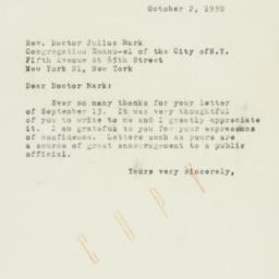 Letter : 1950 October 2