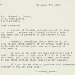 Letter : 1948 November 17