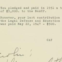 Letter : 1951 December 3