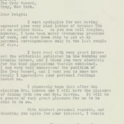 Letter : 1932 October 18
