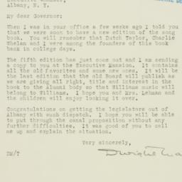 Letter : 1933 October 20