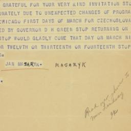 Telegram : 1942 February 24