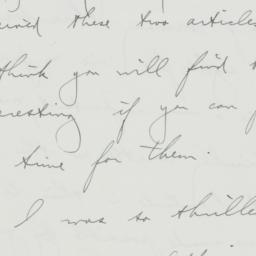 Letter: 1936 August 18