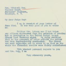 Letter : 1934 June 27