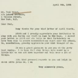 Letter : 1938 April 8