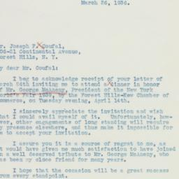 Letter : 1936 March 26
