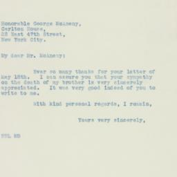 Letter : 1936 May 23