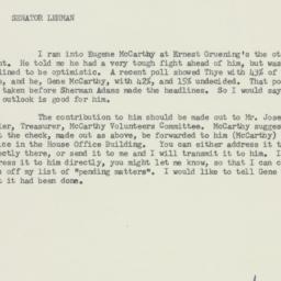 Memorandum : 1958 July 2