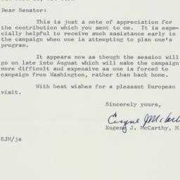 Letter : 1958 July 17