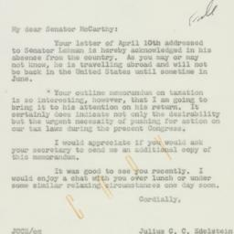 Letter : 1959 April 21
