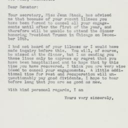 Letter : 1960 November 25