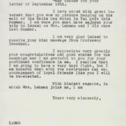 Letter : 1950 September 27