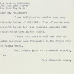 Letter : 1953 July 13