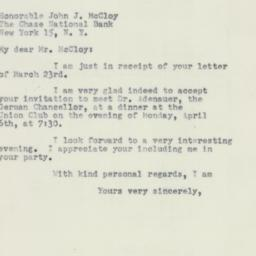 Letter : 1953 March 26