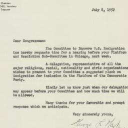 Letter : 1952 July 8
