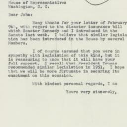 Letter : 1956 February 13