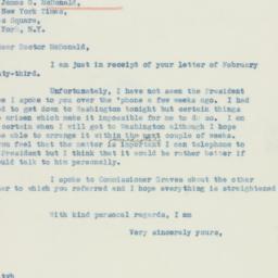 Letter : 1937 February 26