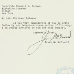 Letter : 1939 November 18