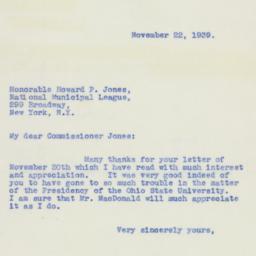 Letter : 1939 November 22