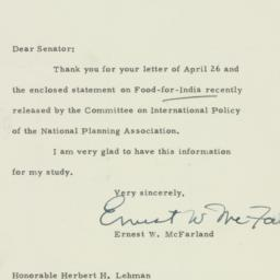 Letter : 1951 May 3