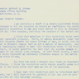 Letter: 1951 February 1