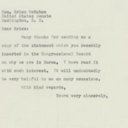 Letter : 1952 April 9