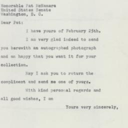 Letter : 1955 March 3