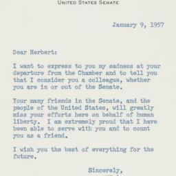 Letter : 1957 January 9