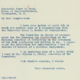 Letter : 1937 April 13