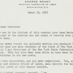 Letter : 1953 March 18