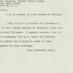 Letter : 1948 February 28