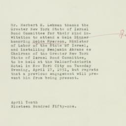 Note : 1951 April 10
