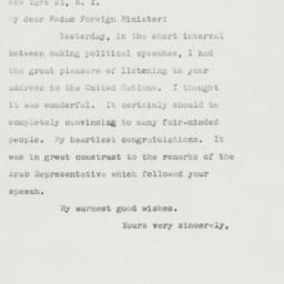 Letter : 1962 October 10