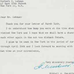 Letter : 1958 March 24