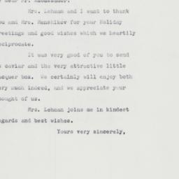 Letter : 1961 December 21