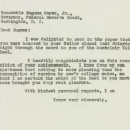 Letter : 1931 December 7