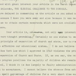 Letter: 1952 April 5