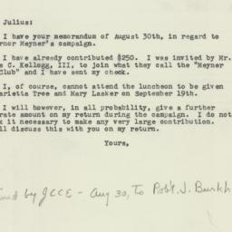 Letter : 1957 September 6