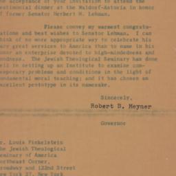 Letter : 1958 November 20