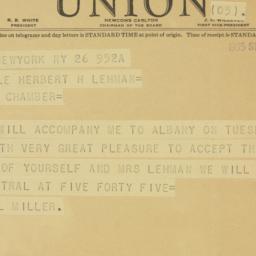 Telegram : 1935 September 26