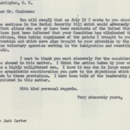 Letter : 1954 July 21