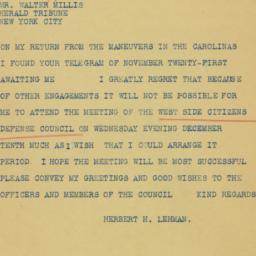 Telegram : 1941 November 25