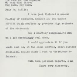 Letter : 1957 December 14