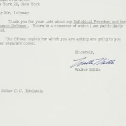 Letter : 1957 December 17