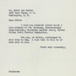 Letter : 1954 June 19