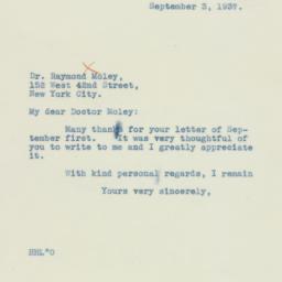 Letter : 1937 September 3