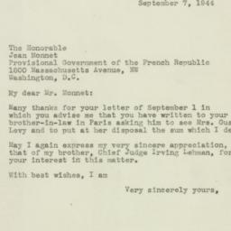 Letter: 1944 September 7