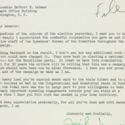 Letter : 1952 November 5